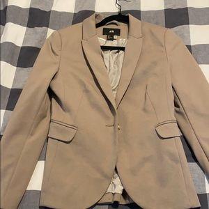 H&m beige womens blazer